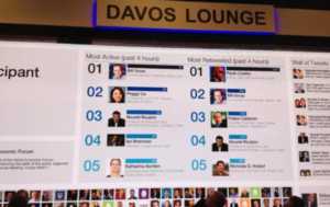 davios twitter feed large screen