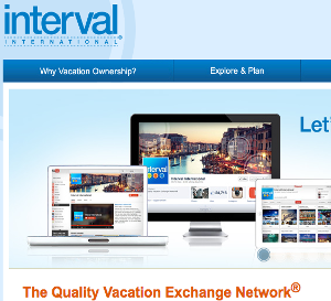 interval international website screenshot