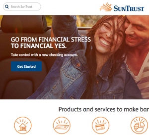 suntrust website screenshot