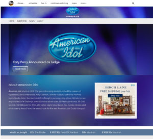 american idol website screenshot