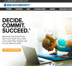 beachbody shakeology website screenshot