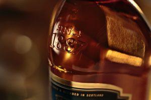 johnny walker scotch bottle close up