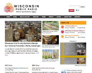 wisconsin public radio web site screenshot